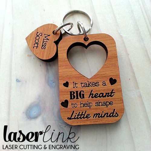 Laser Cut Wooden Key Ring