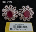 Vivah Creation Ruby & White American Diamond Tops
