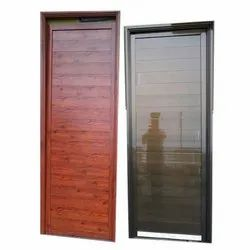 Pine wood Standard Aluminium Hinged Door