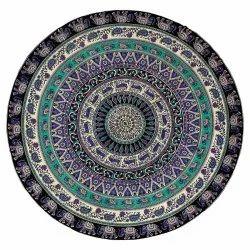 Handmade Hippie Bohemian Boho Multi Color Wall Hanging Tapestry Tie Dye round