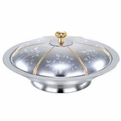 Stainless Steel Goldline Flower Serving Dishes