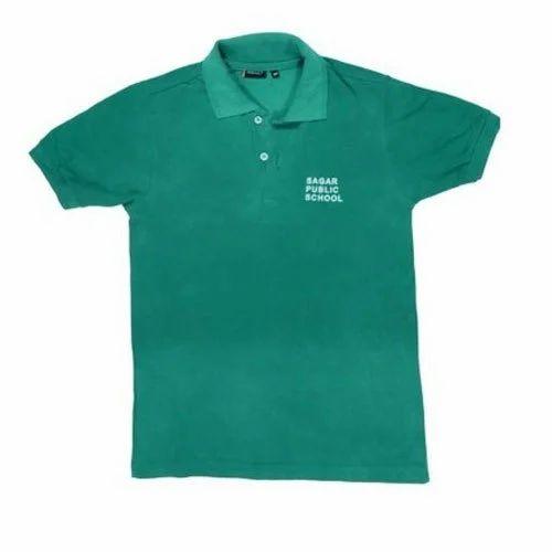 Cotton School Wear Sagar Public School Green House T Shirt 60049d401e