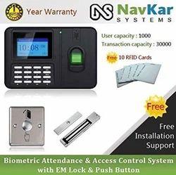 生物识别出勤与访问控制系统,具有EM锁和按钮NS60 / Jensonic B27