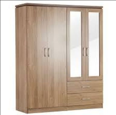 American Cherry 4 Door Wardrobe With Mirror At Rs 16800 Set