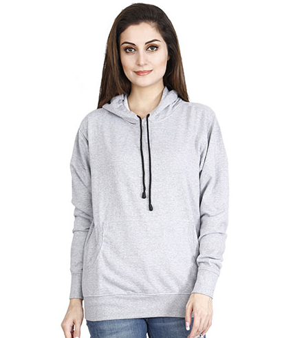 f5a164434768b Grey Melange Teemee Women's Hoodies And Sweatshirt , Rs 399 /piece ...