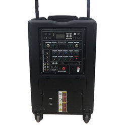 DJ Plus Black Portable Trolley Speaker, Model No.: PA 200B, 200W