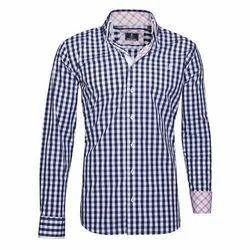 Mens Cotton Casual Check Shirt, Size: S-XL