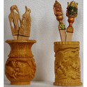 Wooden Carving Pen Stands