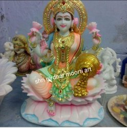 Mata Laxmi Marble Statue