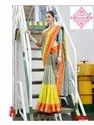 Ladies Corporate Uniform Grey Saree