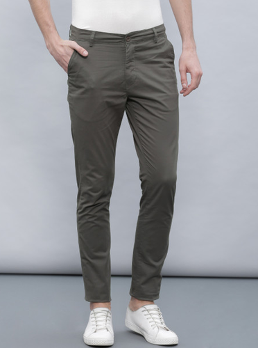 22e609ee8a0320 Ether Men Charcoal Grey Chino Slim Fit Trousers at Rs 1499 /piece ...
