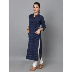 Ladies Cotton Printed Designer Pant Suit, Wash Care: Handwash