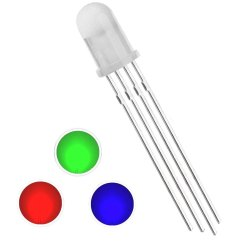 LED 5mm Multi Color Common Anode and Common Cathode Red - Green - Blue (4 Legs)
