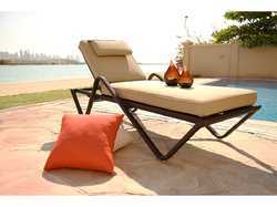 Stackable Wicker Pool Lounger