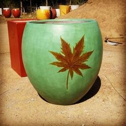 Balcony Cement Round Flower  Pot