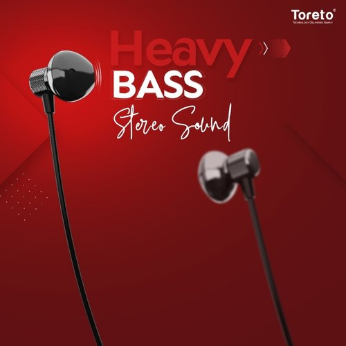 Wireless Black & Red Toreto Blutooth Earphone, Model Name/Number: Tor- 284