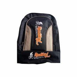 Printed Orange And Black Kids School Backpack