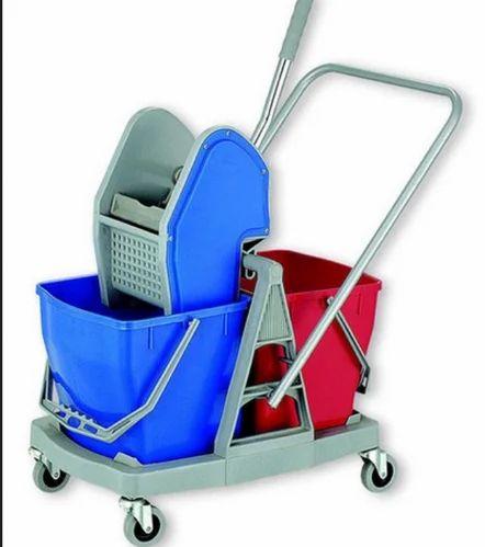Blue Plastic Wringer Bucket Trolley/mop trolley