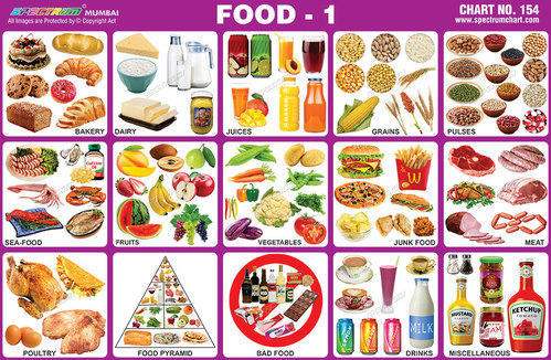 Food And Nutrition Charts - Constituents Of Food Charts Exporter