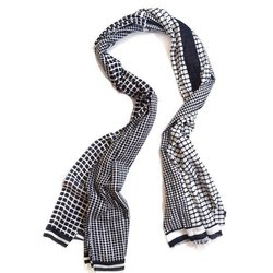 Casual Wear Printed Womens Check Cotton Stoles, Packaging Type: Packet