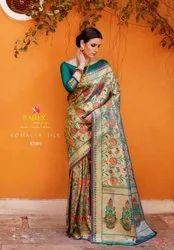 Rajtex Komalya Silk 87001-87006 Series Paithani Silk Saree