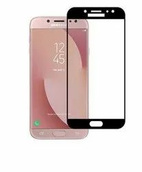 Samsung Galaxy J5 (VMAXTEL)High Quality Tempered Glass 9h Hardness (Black)