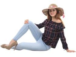 Check Full Sleeve Women Western Wear Tops