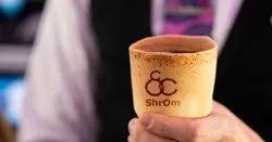 ShrOm Plain Edible Cups, Capacity: 1000 Per Hr, Size: 110 Ml
