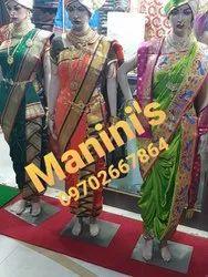 Manini\'\'s Silk Zari Border Shahi Mastani Nauvari Saree