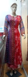 Ladies Long Printed Cotton Kurtis
