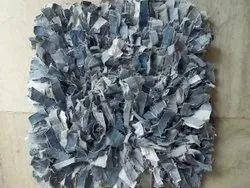 Denim Chindi Shaggy Rug And Carpet, Size: 60x90 Cms, 60x150 Cms Etc