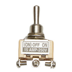 15 Amp SPDT Centre Off Toggle Switch
