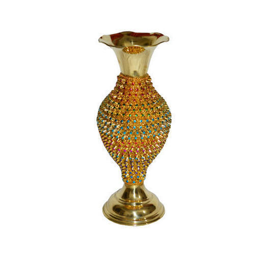 225 & Brass Handicraft Flower Vase