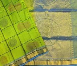 Checks Design Silk Butta Saree