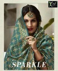 Kessi Sparkle Fancy Silk Jacquard Lehenga Choli Catalog Collection