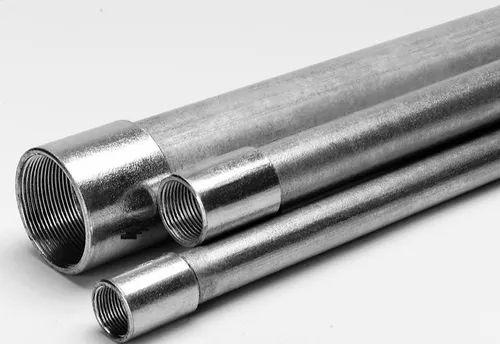 Metallic Gray Galvanized Steel Rmc Rigid Metal Conduit