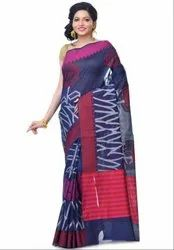 Navy Blue Chanderi Resham Work Banarasi Saree