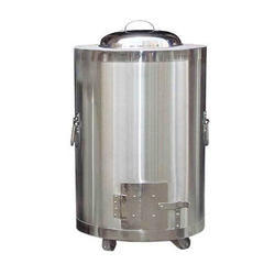 Ss Domestic Drum Tandoor, Shape: Cylindrical, Capacity: 6 Rotis
