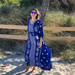 hand embroidered kaftan