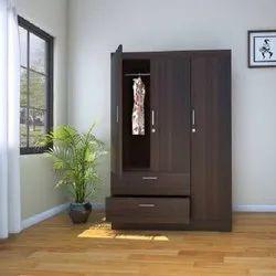 Engineering Wood Brown Low Price Wardrobe