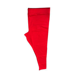 Real Dream Viscose Red Plain Ankle Leggings, Size: S-XXL