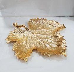 RGN Gold Aluminium Leaf Bowl, Size: 50 cm