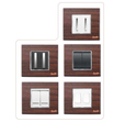 8 Module Teak Wood Square Modular Switch Plate