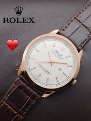 Rolex Watch Leather Belt