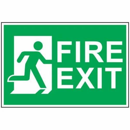 fire exit sign board fire sign tm eventz chennai id 11511851633 rh indiamart com