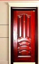 Standard Metal WOOD FINISH Steel security Door PGS 3 (with door frame), Brown, Thickness: 70 Mm
