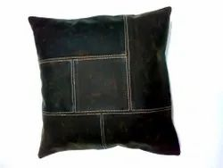 Distressed Leather Cushion Cover