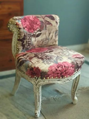 Multicolor Leeladhar Crafts Upholstered Chair