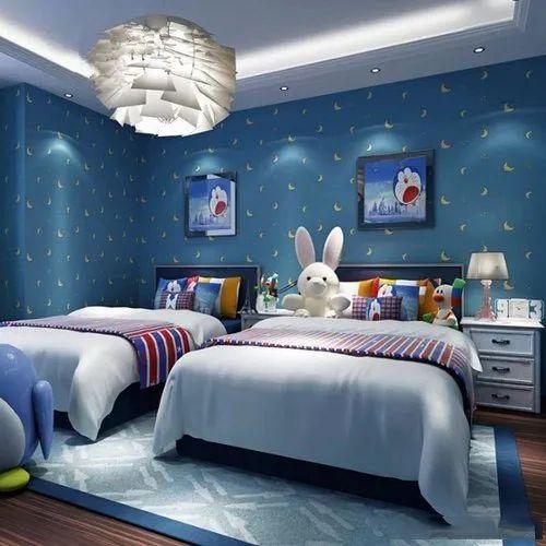Pvc Paper Kids Room Wallpaper Rs
