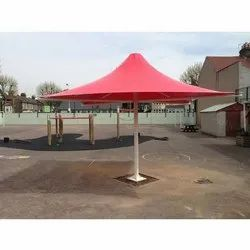 Red Tensile Umbrella